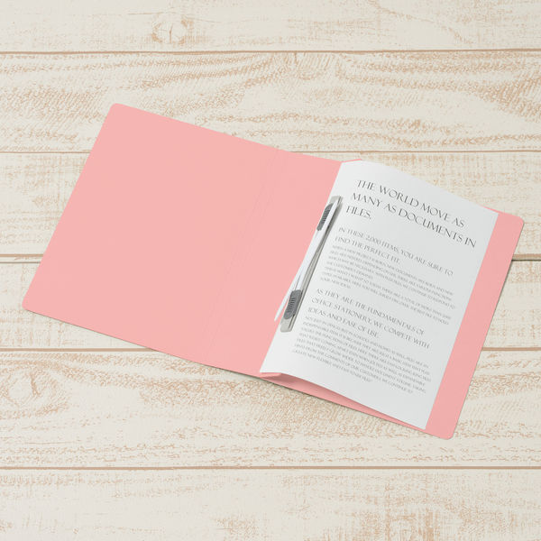 プラス フラットファイル厚とじ500 A5タテ ピンク 87568 1セット(30冊)