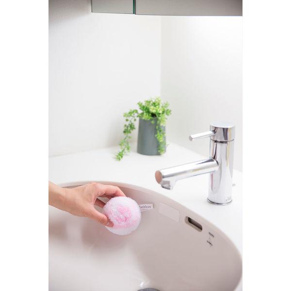 洗面台スッキリポンポン抗菌ケース付ピンク