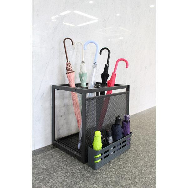 折りたたみ傘の傘立て6本用 ダークグレー