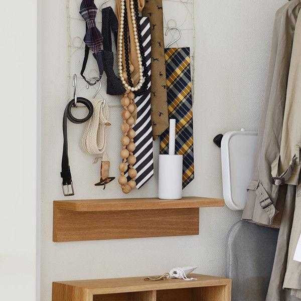 壁に付けられる家具・棚・幅44cmオーク