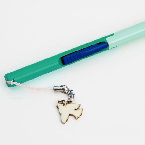 プラス はさみ 携帯用ペン型タイプ フィットカットカーブ ツイッギー グリーン SC-130P 2本(直送品)