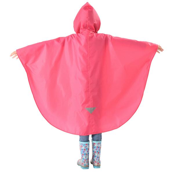 OUTDOOR子供レインポンチョ ピンク