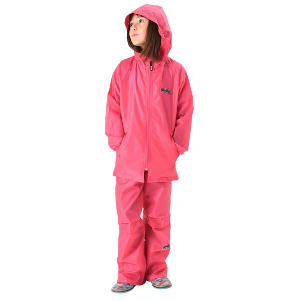 OUTDOOR子供 レインスーツ ピンク