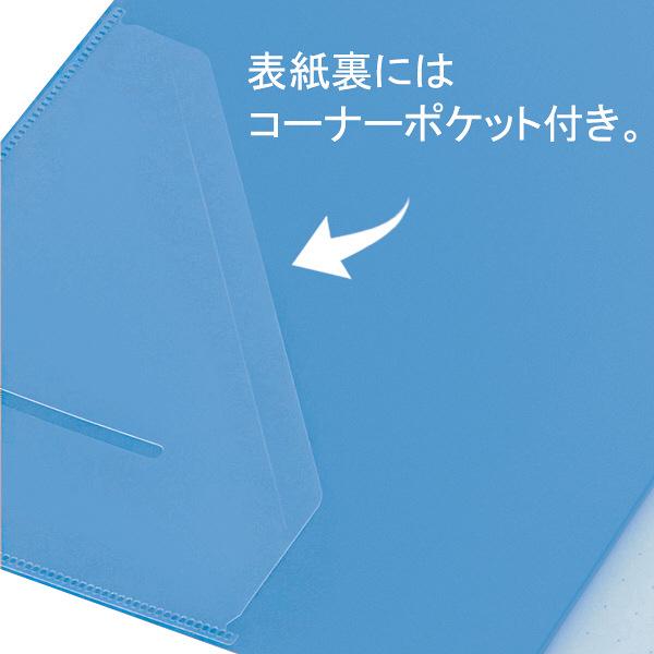 クリアーファイル A4タテ20P 赤