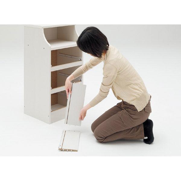 白井産業 組立簡単チェスト ホワイト 高さ112cm 幅28cm (直送品)