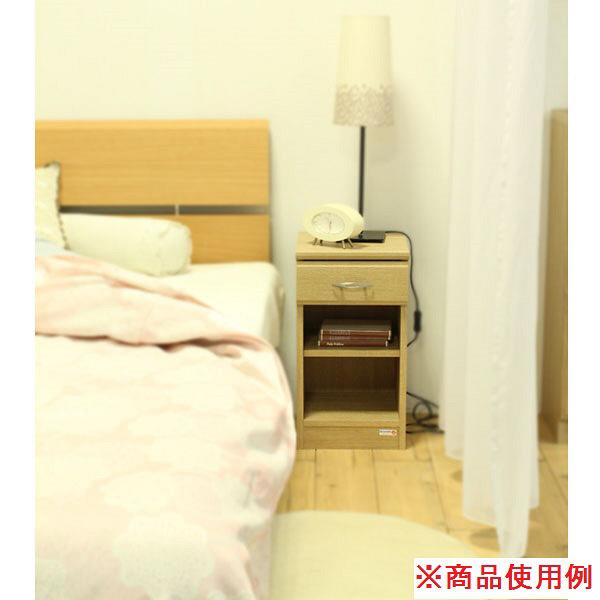 白井産業 ナチュラル家具 ナイトテーブル HNB-5530H 1台 (直送品)