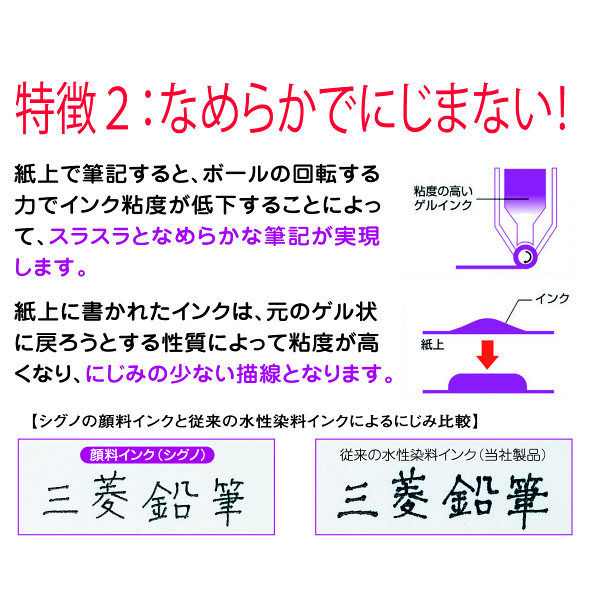 三菱鉛筆(uni) ゲルインクボールペン替芯 シグノ 0.38mm UMR-1 赤 10本