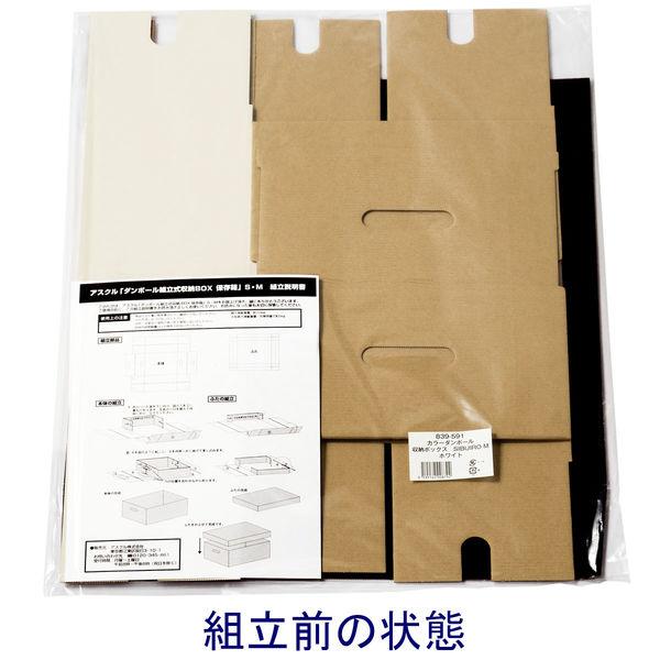 収納ボックス M ホワイト 5個