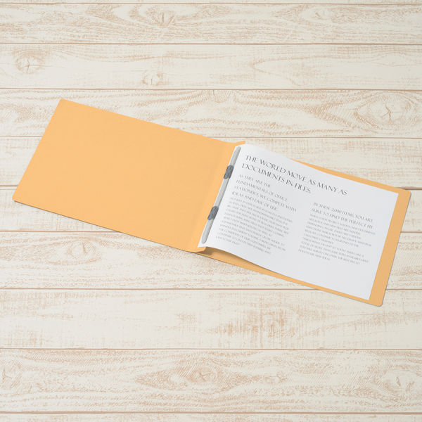 プラス フラットファイル樹脂製とじ具 A4ヨコ イエロー No.022N 10冊