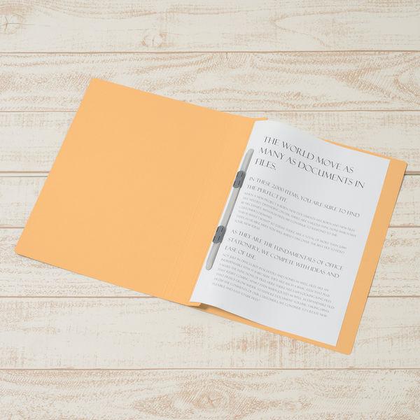 プラス フラットファイル厚とじ A4タテ 10冊 イエロー No.021NW 樹脂製とじ具