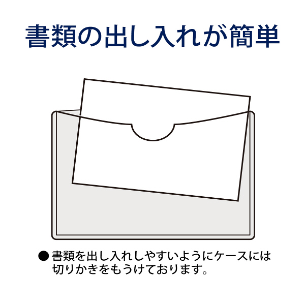 プラス 再生カードケース(ソフトタイプ) A6 109×152mm 34435 業務用パック 1箱(20枚入)
