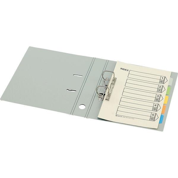 キングジム レバーリングファイルDタイプ A4タテ 背幅59mm ライトグレー 業務用パック 1箱(10冊入) 3774