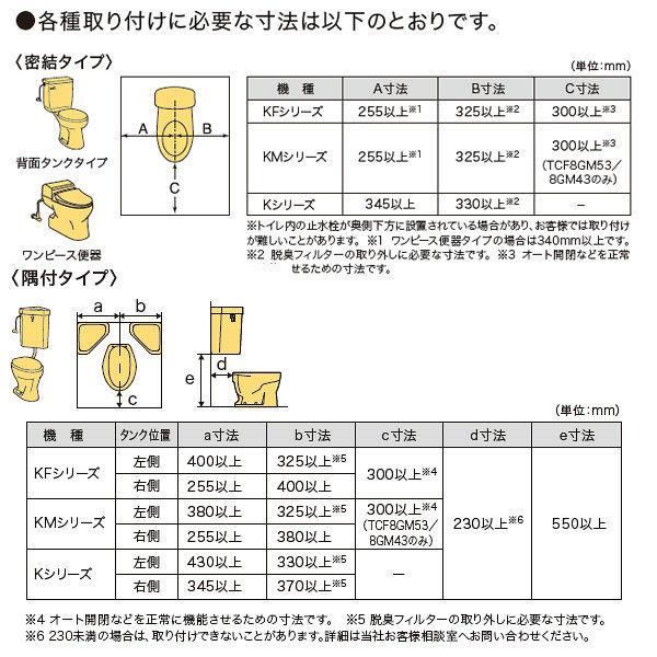 TOTO瞬間式ウォシュレットKMシリーズ