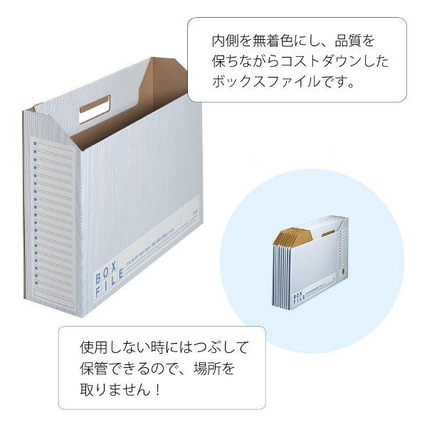 プラス ボックスファイル(エコノミータイプ) B4 ブルー 77897 業務用パック 1箱(25冊:5冊入×5袋)