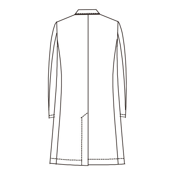 ナガイレーベン 男子シングル診察衣(ドクターコート ハーフ丈 シングル) HE-4950 Tネイビー S (取寄品)