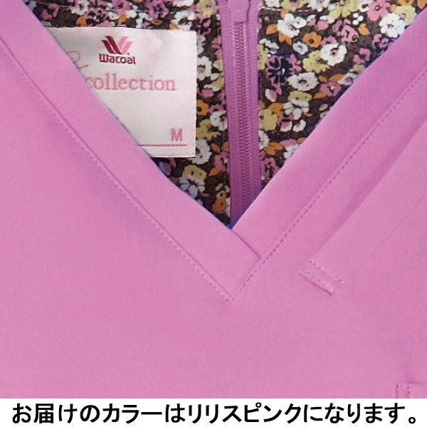 フォーク 医療白衣 ワコールHIコレクション レディススクラブ(後ろジップ) HI700-3 リリースピンク L (直送品)