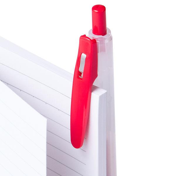 アスクル ノック式ゲルインクボールペン 0.4mm 赤