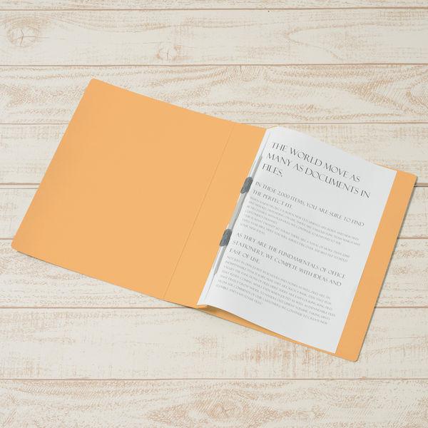 プラス フラットファイル厚とじ500 A4タテ イエロー 87987 1袋(10冊入)