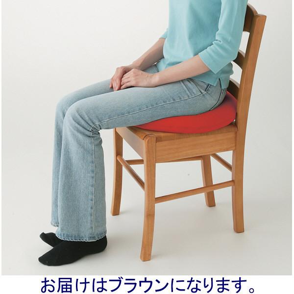 メイダイ 勝野式 医学博士の低反発円座クッション ブラウン
