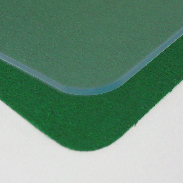 プラス デスクマット クリアータイプ 2号(1445×715mm) 厚さ1.8mm 下敷き付(直送品)