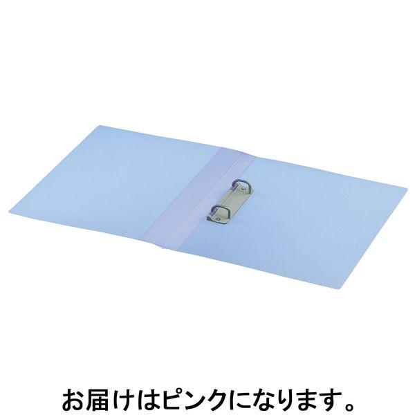コクヨ ポップリングファイル スリム A4タテ 2穴 背幅21mm 内径10mm ピンク フ-PS410P 10冊入