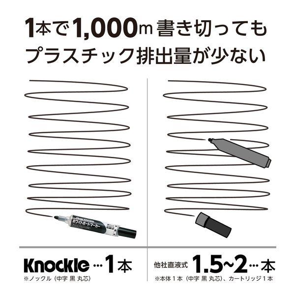 ボードマーカー ノックル 太字平芯 青