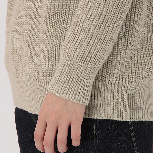 ... 無印 畦編みモックネックセーター 婦人M ...