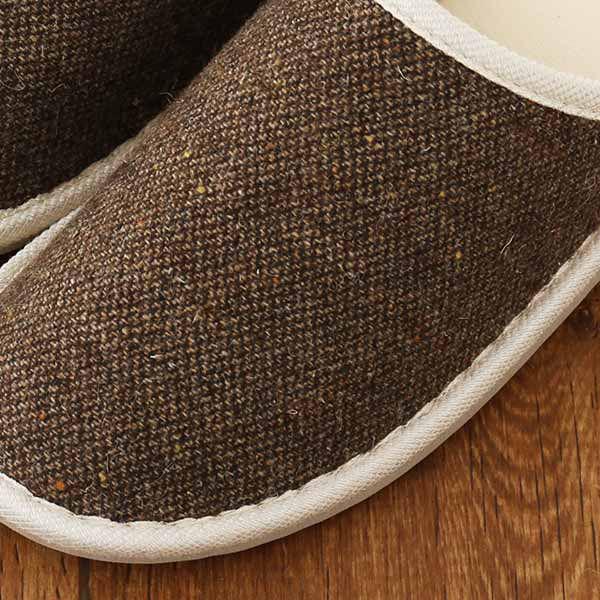 外縫い リサイクルウール ブラウン