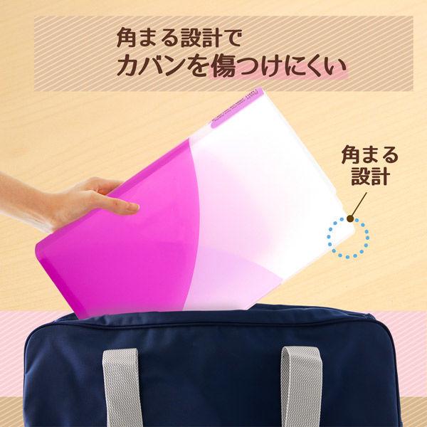 2穴ファイル パスティ A4縦 ピンク