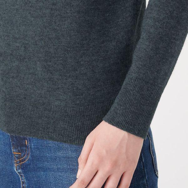 ヤク混ウールクルーネックセーター 婦人M
