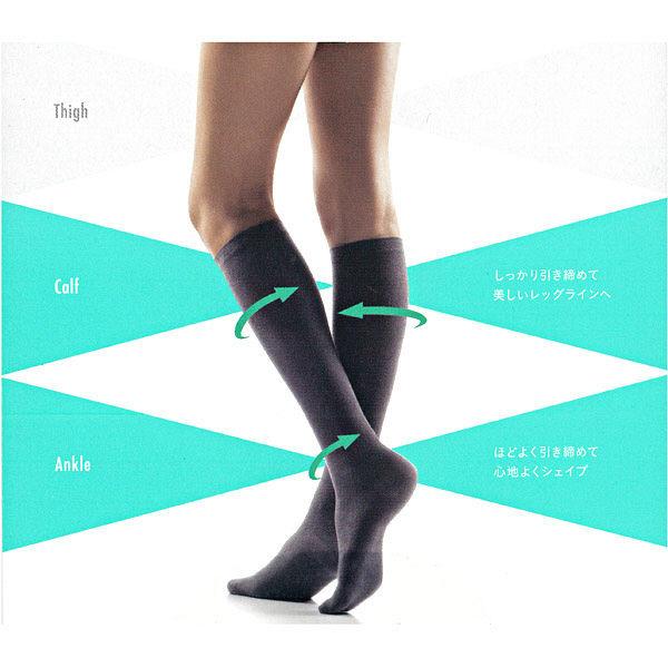 アツギ 靴下綿混着圧soft23~25黒