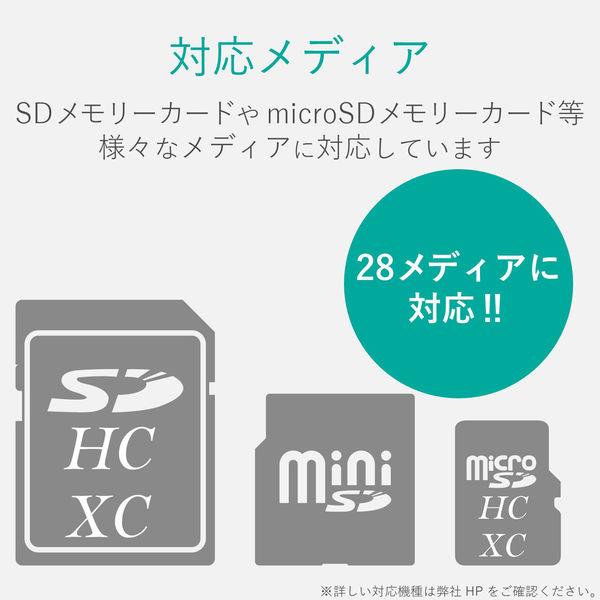 エレコム Lightningメモリリーダライタ/SD+microSD対応/Type-C変換アダプタ付属/シルバー LMR-MB15SV 1個(直送品)