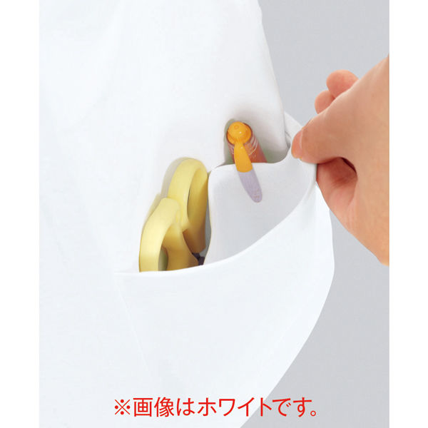 住商モンブラン ラウンドカラージャケット 医療白衣 レディス 半袖 ホワイト LL 73-1940 (直送品)