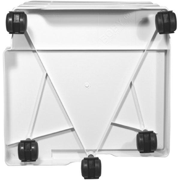 ビーライン ボビーワゴン 3段/3トレイ(浅型) ブラック 1台 (直送品)