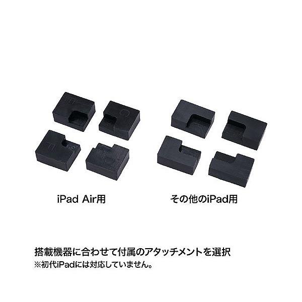 サンワサプライ セキュリティボックス付きiPadスタンド φ350×H994(支柱)mm ブラック (直送品)