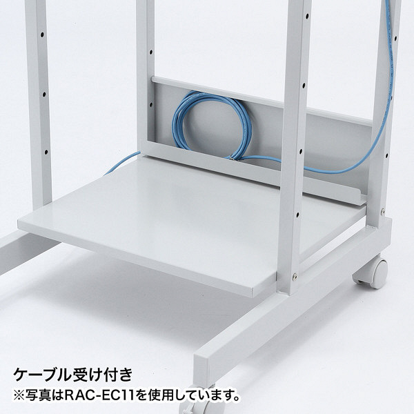 サンワサプライ パソコンラック 幅750×奥行725×高さ1120~1270mm ホワイト (直送品)