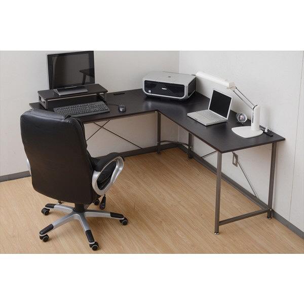 YAMAZEN コーナーパソコンデスク 幅1600×奥行1600×高さ760mm ダークブラウン/ブラウン 1台 (直送品)