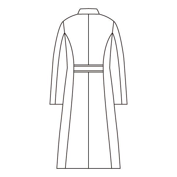 住商モンブラン ローラアシュレイ レディスドクターコート 長袖 ホワイト シングル L LW102-13 (直送品)