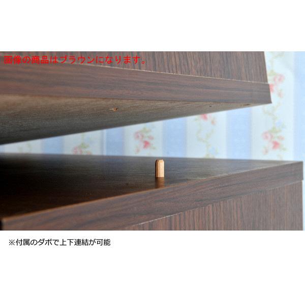 佐藤産業 hako組合せ収納ボックス(ガラス扉キャビネットスタイプ) 幅390×奥行390×高さ390mm ブラウン ha39-39T_BR 1台 (直送品)
