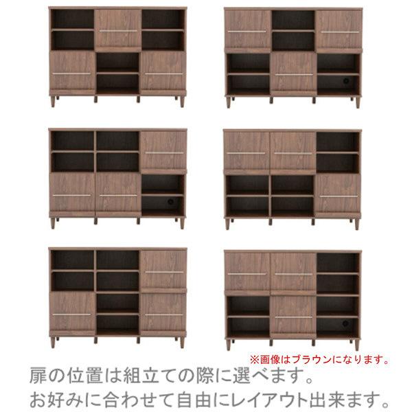 佐藤産業 REA(レア) キャビネット 幅1180mm×高さ884mm ホワイト REA90-120T_WH 1台 (直送品)