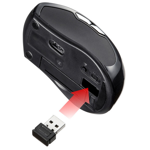 サンワサプライ 無線(ワイヤレス)マウス レッド レーザー方式/5ボタン MA-NANOLS12R (直送品)