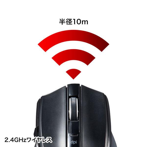 サンワサプライ 無線(ワイヤレス)マウス ブラック ブルーLED方式/5ボタン MA-WBL38BK (直送品)