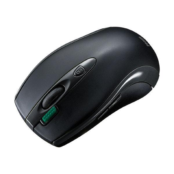 サンワサプライ バッテリーフリーワイヤレスマウス ブラック マウスパッド給電タイプ/ブルーLED方式/7ボタン MA-WHNB4BK (直送品)