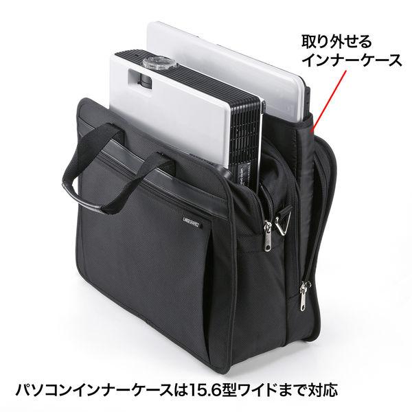 サンワサプライ モバイルプリンタ/プロジェクターバッグ ブラック/15.6インチワイドまで対応 BAG-MPR3BKN (直送品)