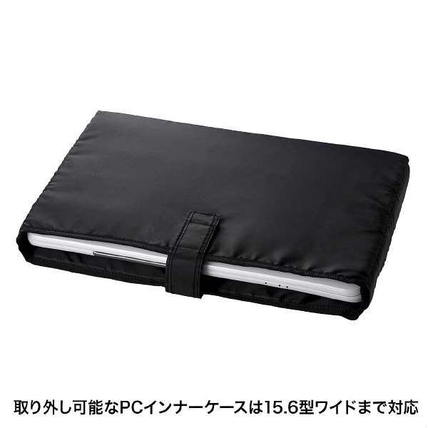サンワサプライ セキュリティビジネスバッグ ダブル ブラック/15.6インチワイドまで対応 BAG-SL01BK (直送品)