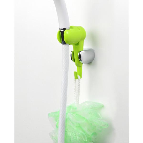 ガオナ シャワーフック 角度調節 (後付式 小物掛け 便利 取付簡単 グリーン) GA-FP005 (直送品)