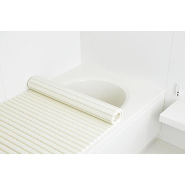 これカモ シャッター式風呂フタ 取替用 幅75×長さ150cm (コンパクト 軽量 アイボリー) GA-FR022 (直送品)