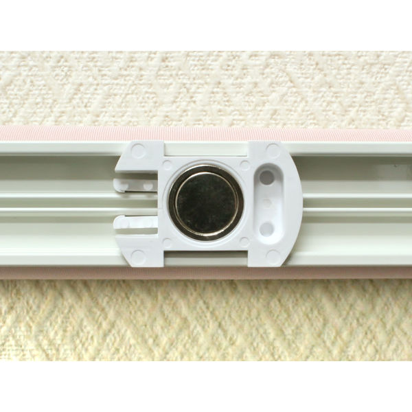 ナプコインテリア シングルロールスクリーン マグネットタイプ プル式 フルーレ 高さ900×幅620mm ピンク 1本 (直送品)