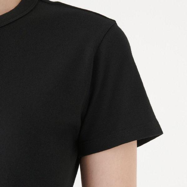 無印 汗じみしにくい半袖Tシャツ婦人XL