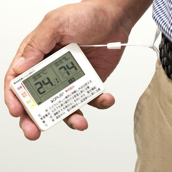 インテック グルス デジタルポータブル熱中症計 3個セット GRS103-01_3コセット(直送品)